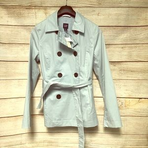 NWT GAP Light Blue Water Resistant Jacket Size M